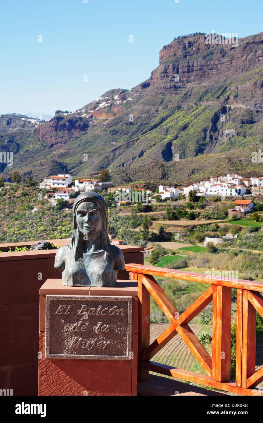 El Balcon de la Mujer Tejeda, Gran Canaria - Stock Image