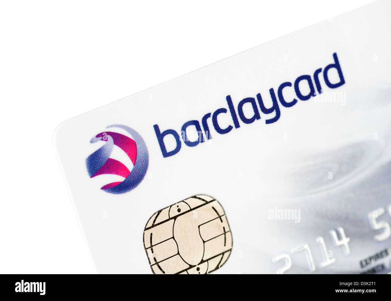 Barclaycard VISA credit card issued in the UK - Stock Image