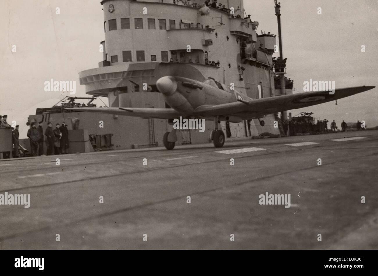 Royal Navy Seafire of WW11 - Stock Image