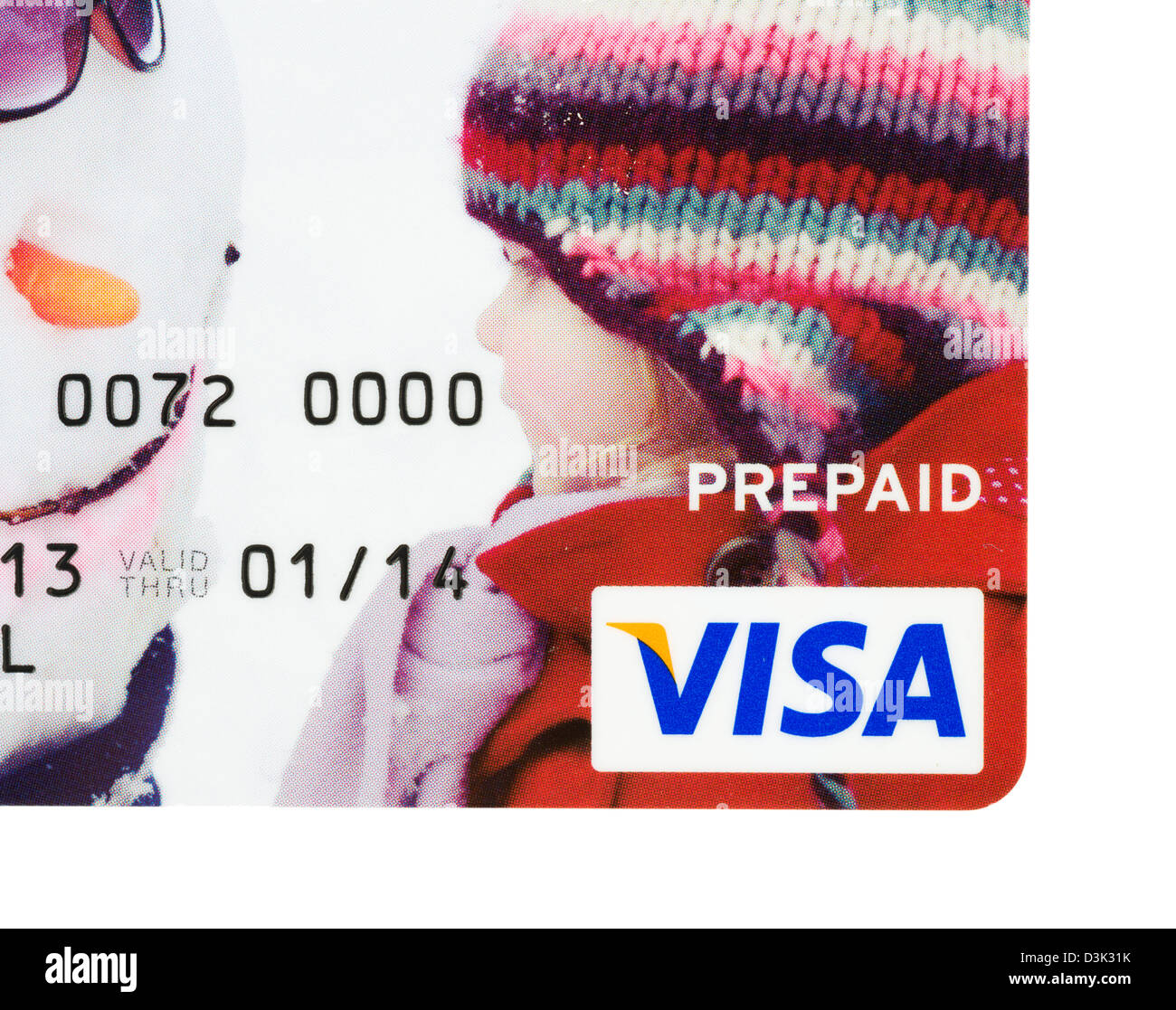 Prepaid VISA card issued in the UK by Citibank - Stock Image
