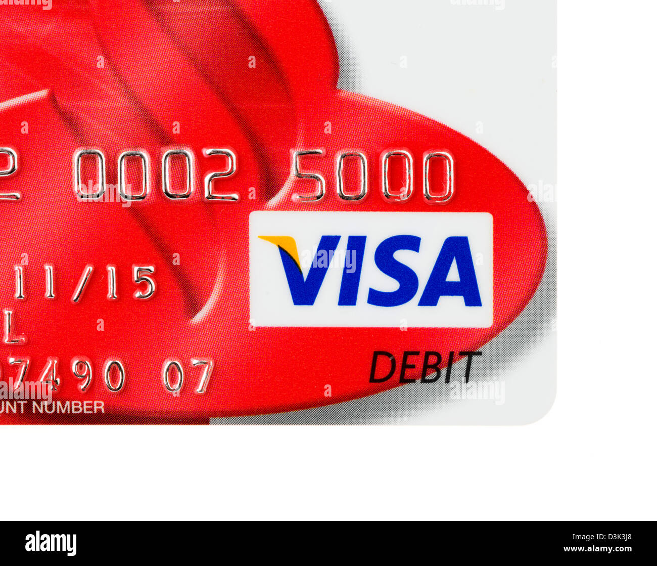 VISA debit card issued in the UK - Stock Image