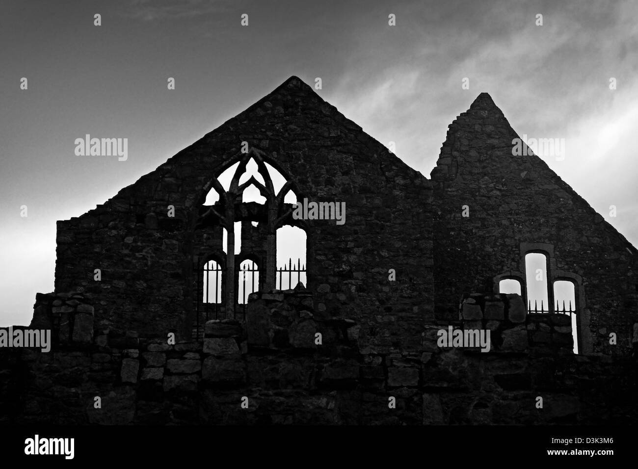 Howth Abbey Fingal Co. Dublin Ireland - Stock Image