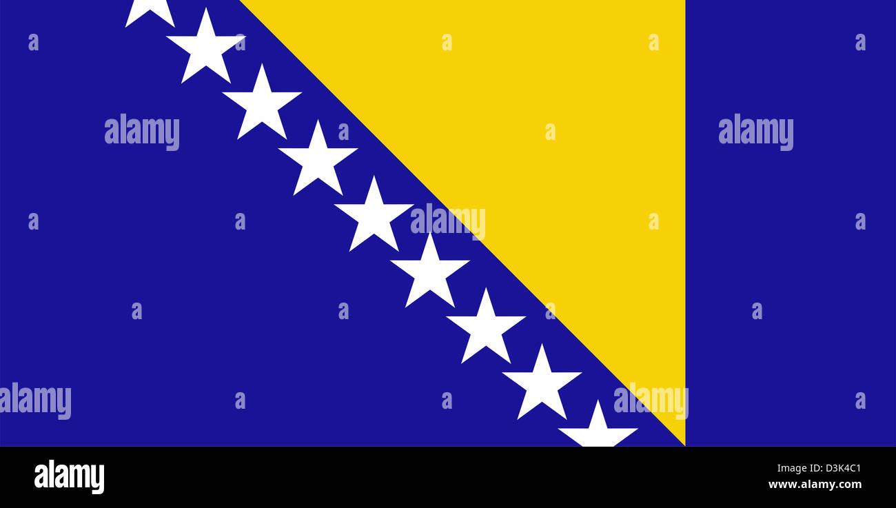 Flag of Bosnia and Herzegovina. Stock Photo