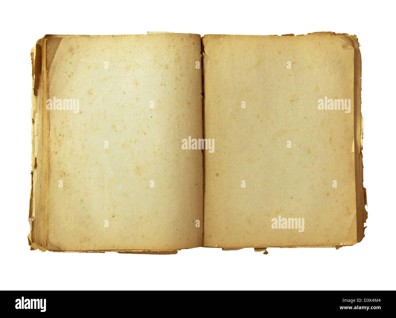 old book with precise CLIPPING PATH - Stock Image