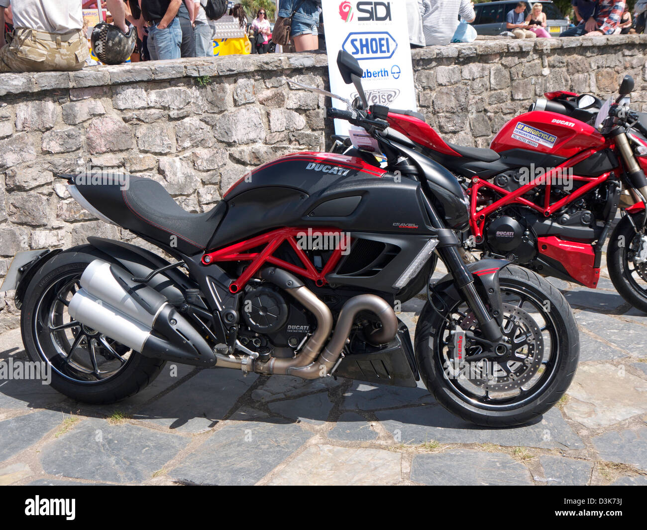 Ducati Motorcycles At Super Speed Weekend In Torquay   Stock Image