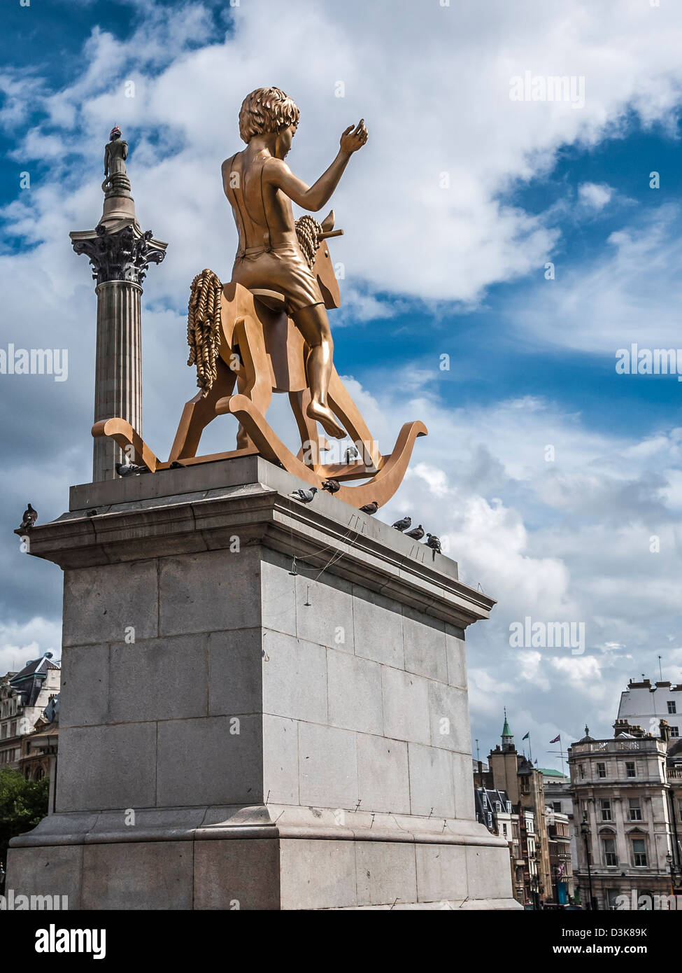 Powerless Structures, Fig. 101, Fourth Plinth, Trafalgar Square - Stock Image