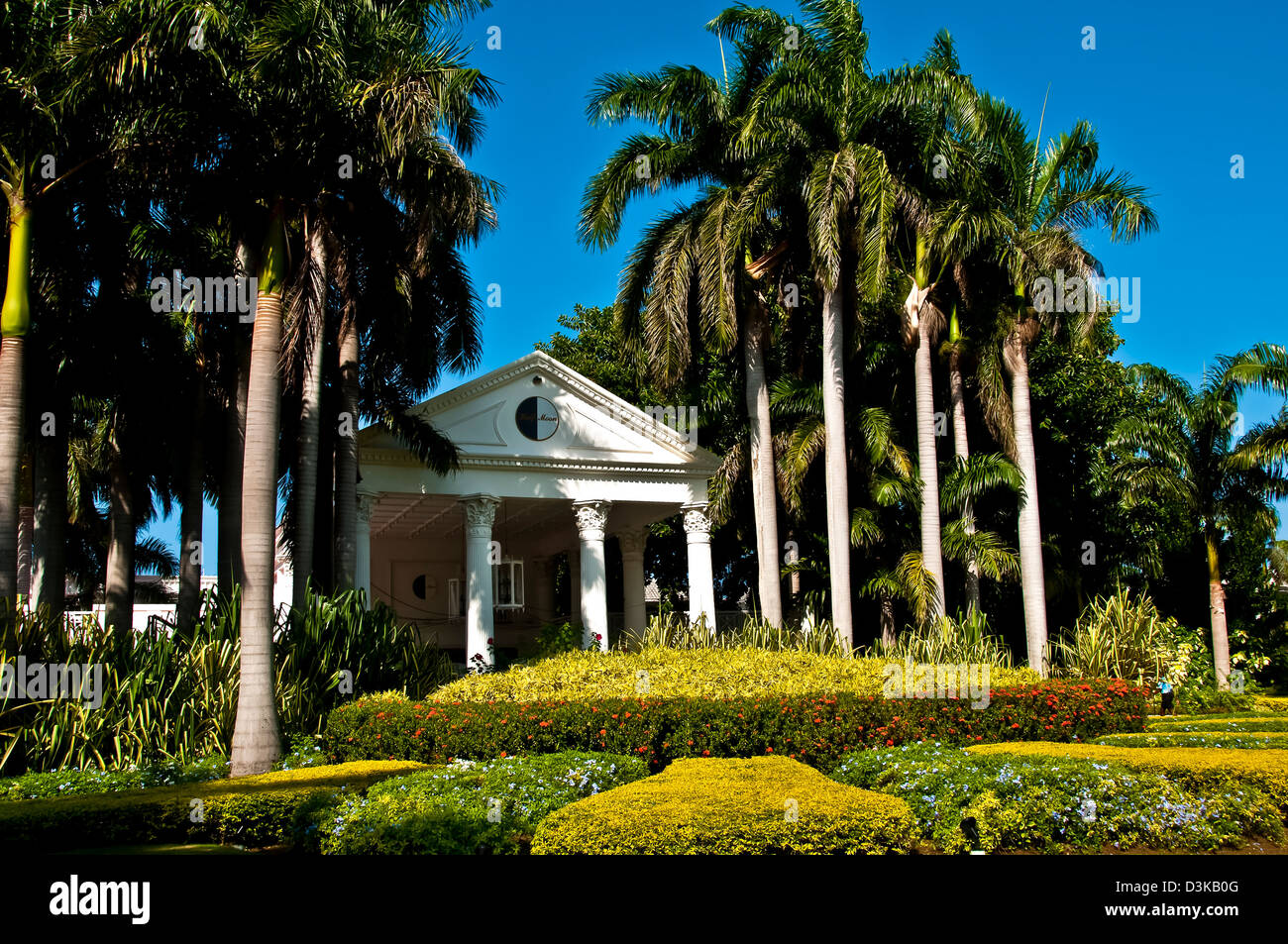 Entrance lobby building at Half Moon luxury resort, Montego Bay - Stock Image