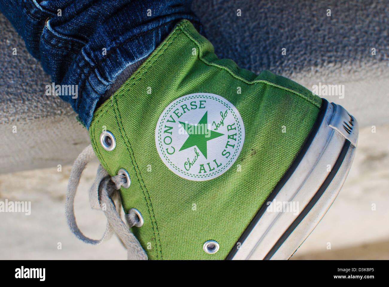 Converse shoe showing logo - Stock Image