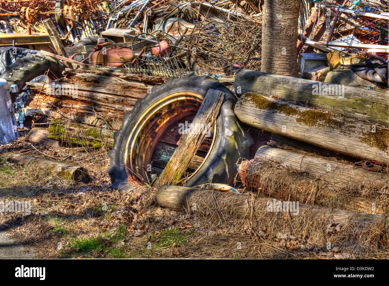 ' The Town Junk Yard ' - Stock Image