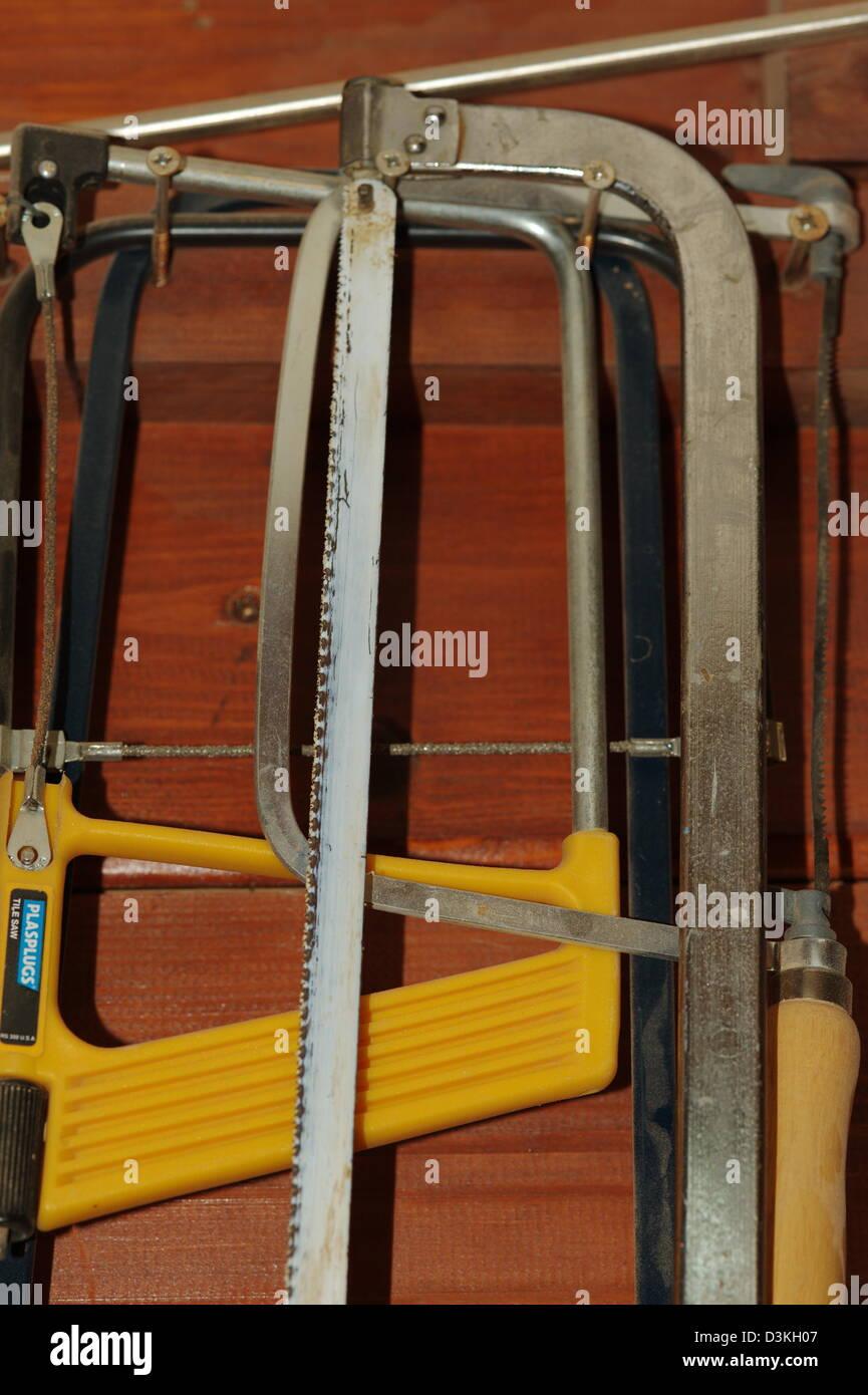 hand saw tools - Stock Image