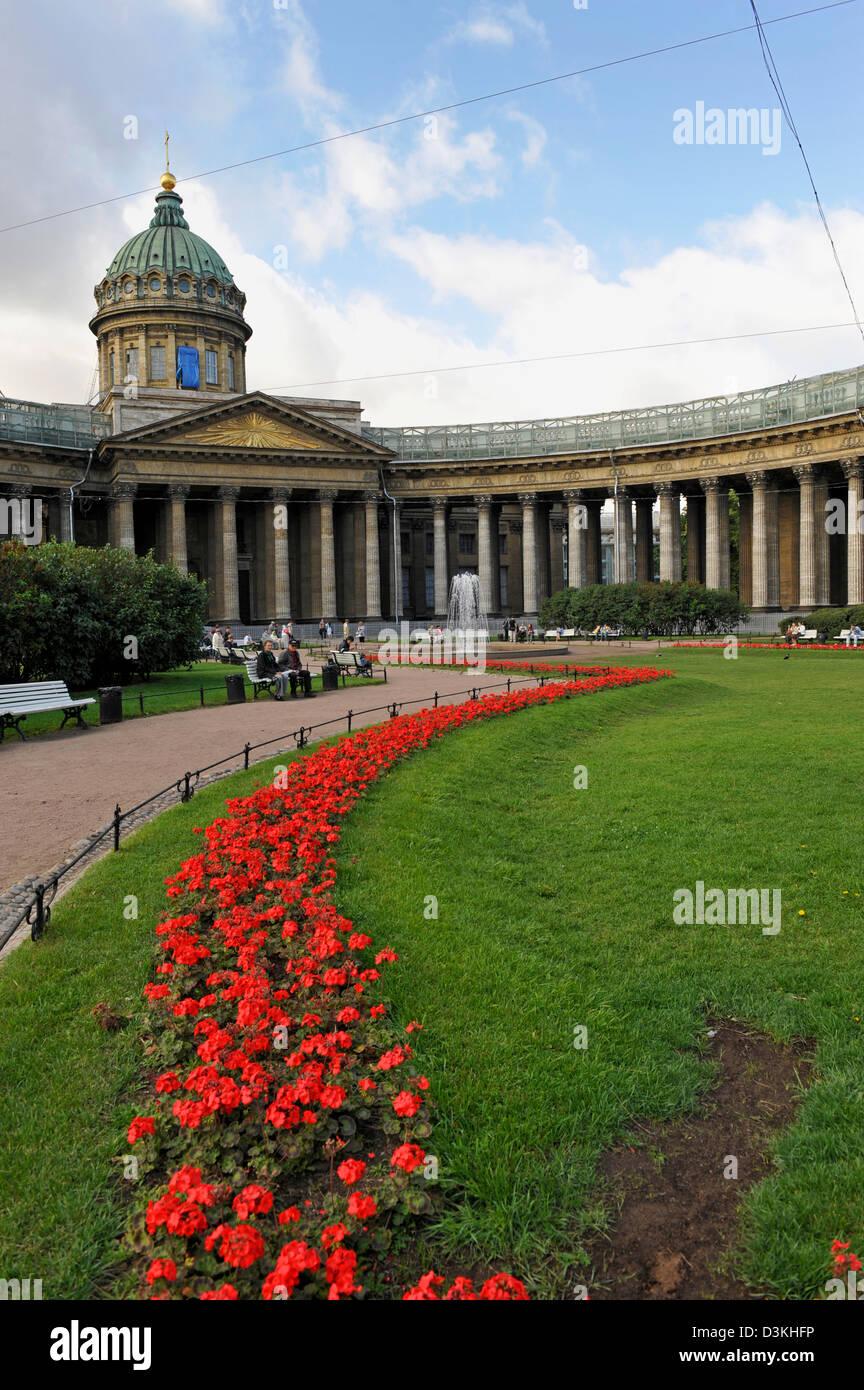 The Kazan Cathedral on Nevsky Prospect St Petersburg Russia Stock Photo