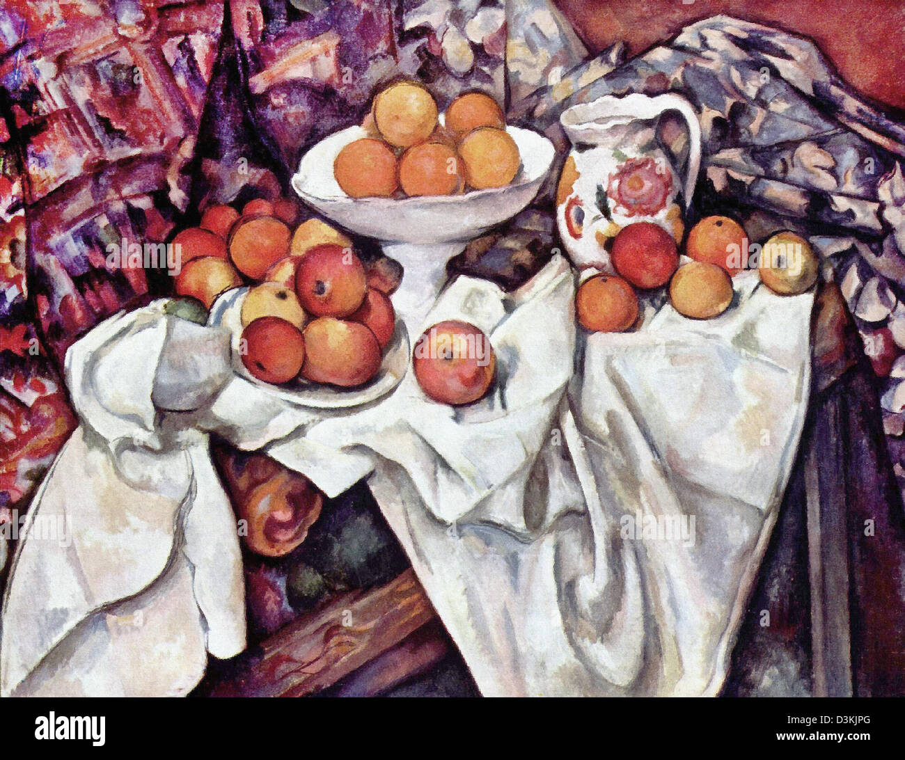 Paul Cezanne, Apples and Oranges 1899 Oil on canvas. Musée d'Orsay, Paris - Stock Image