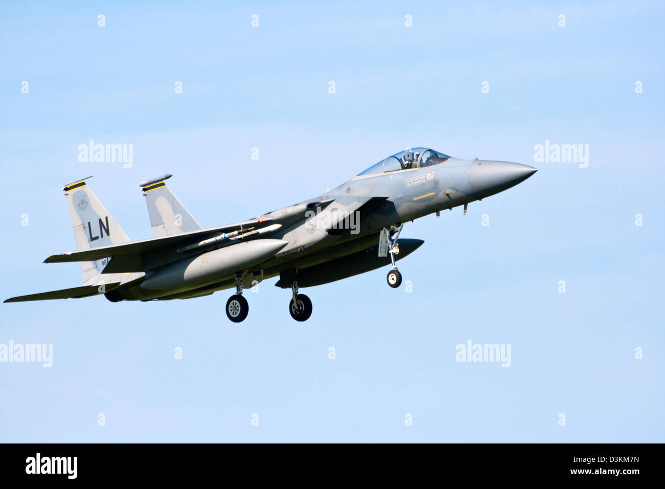 US Air Force F-15 fighter jet - Stock Image