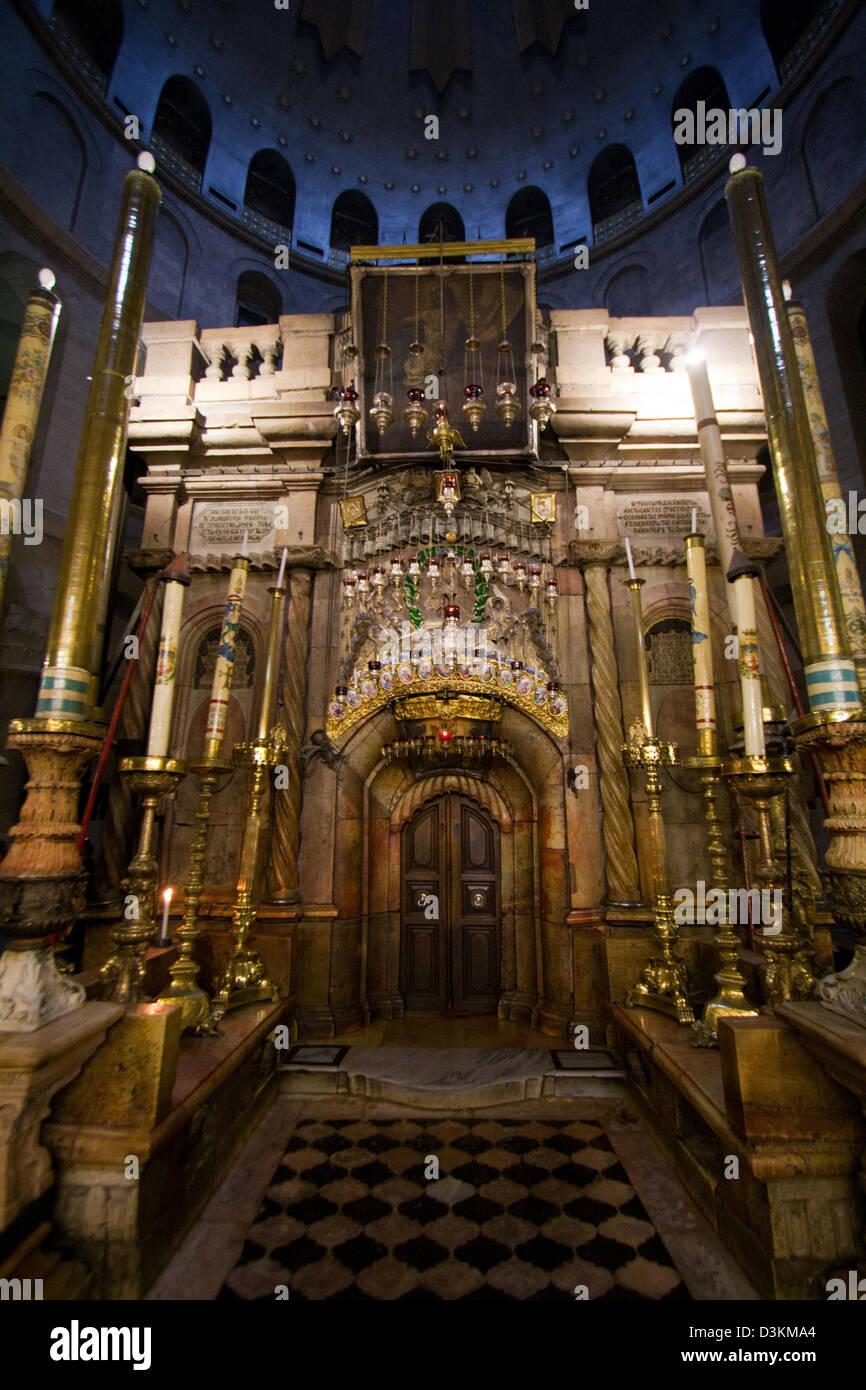 Church of the Holy Sepulchre - Jerusalem - Stock Image