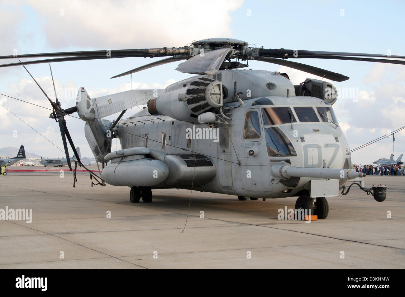 Us marines ch 53e super stallion helicopter on display at for The miramar