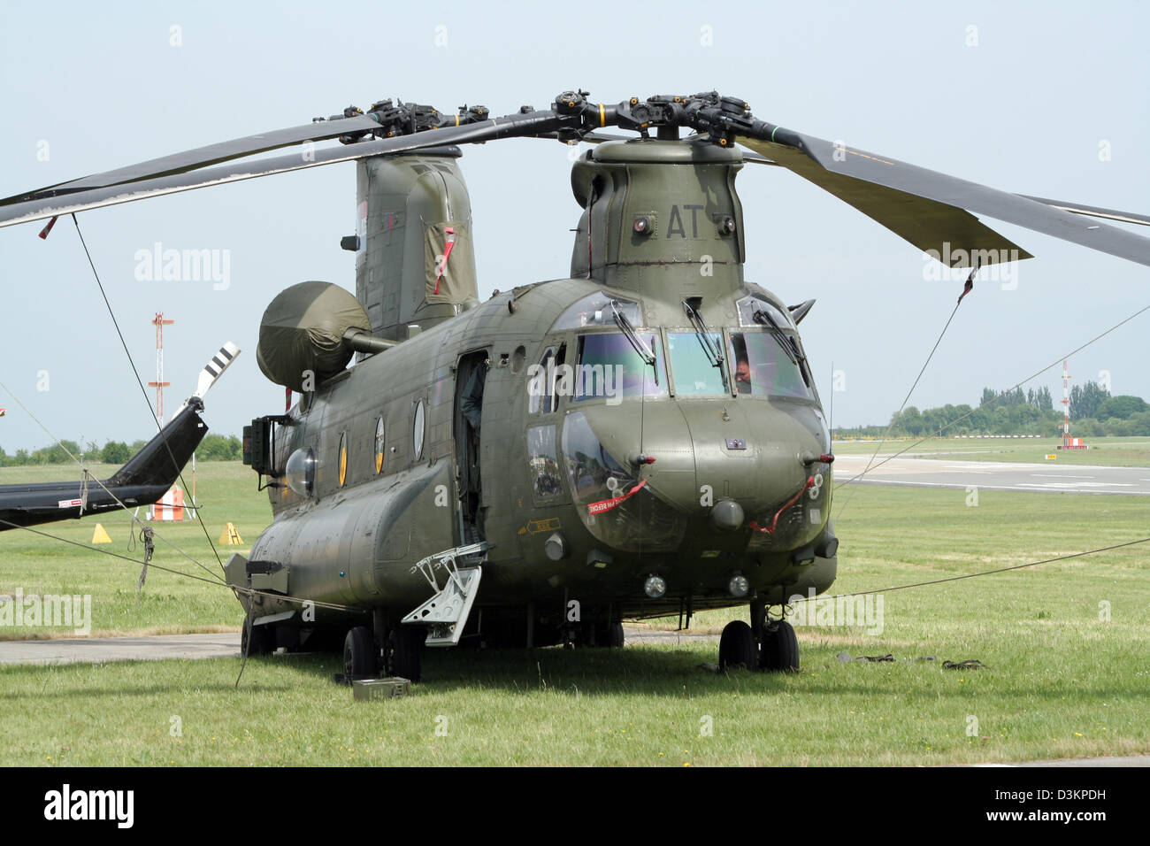 Royal Air Force CH/47 Chinook transport helicopter - Stock Image