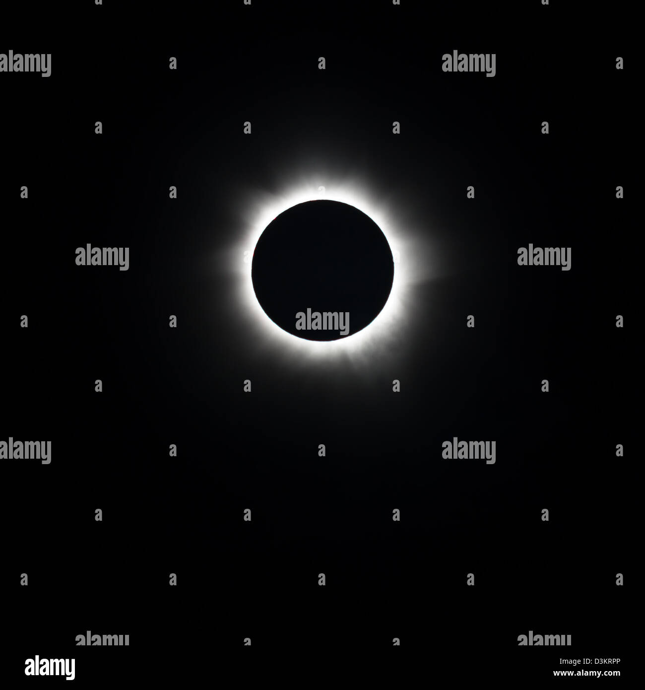 Totality, Total Solar Eclipse 2012 - Stock Image
