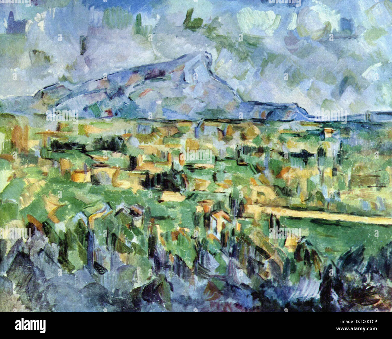 Paul Cezanne, Mount Sainte-Victoire 1904-1906 Oil on canvas. - Stock Image
