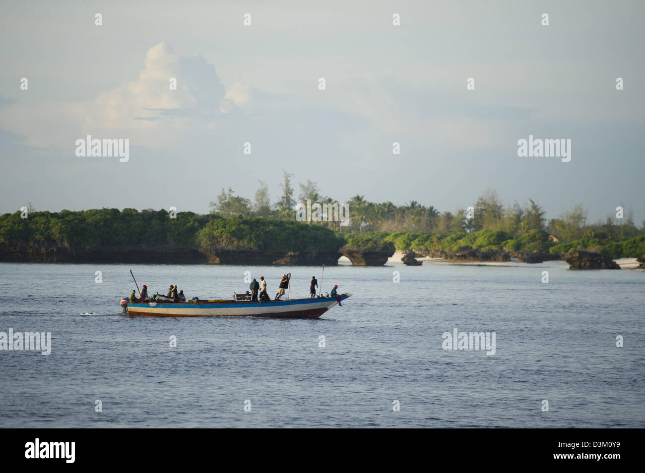 Fishing boat, Turtle Bay, Watamu, Kenya - Stock Image