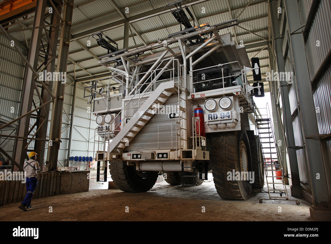 FQM copper mining large haul truck parked - Stock Image