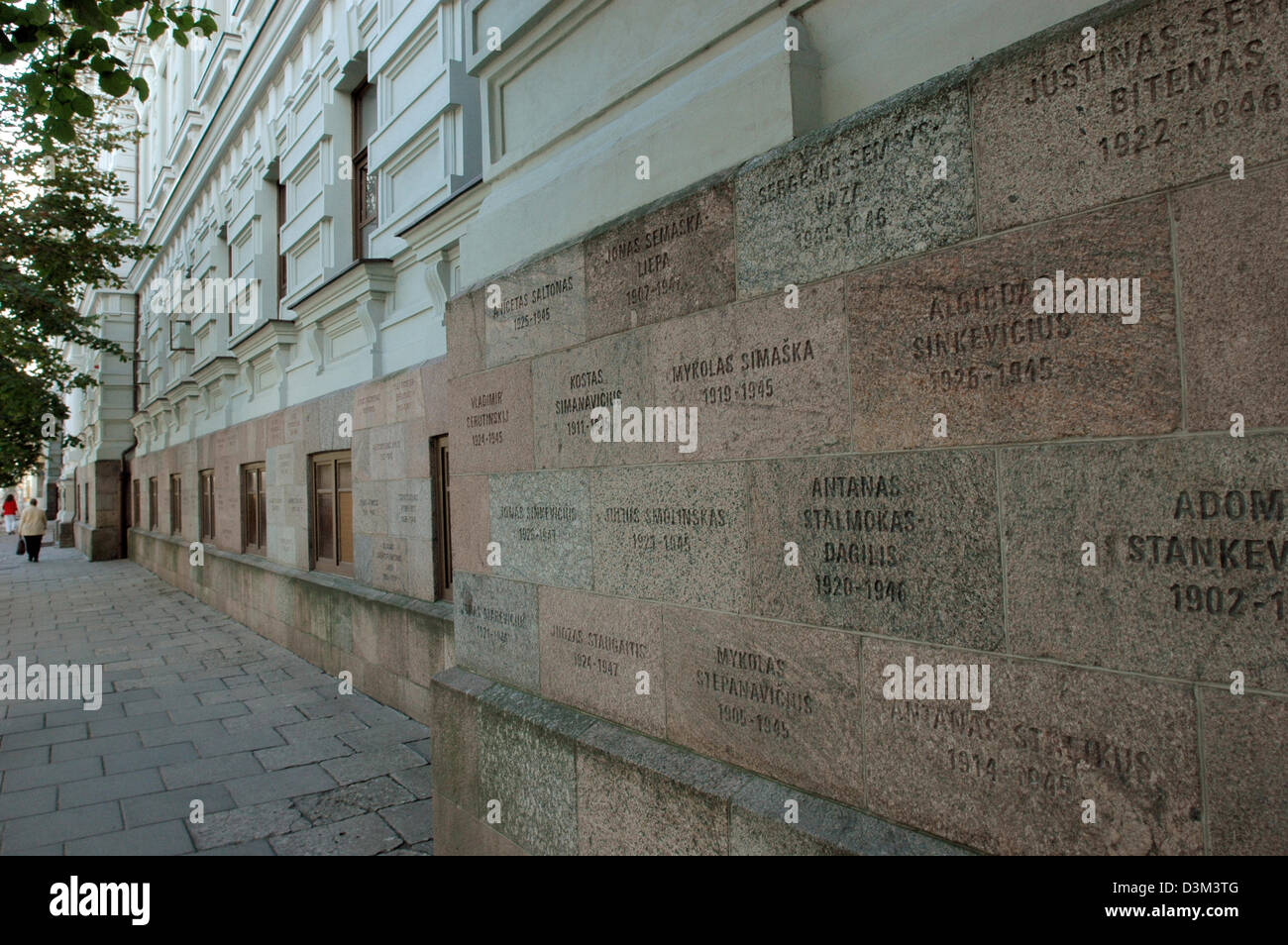 (dpa) - The picture shows the former KGB building in the main street Gedimino Prospekt in Vilnius, Lithuania, 2 - Stock Image