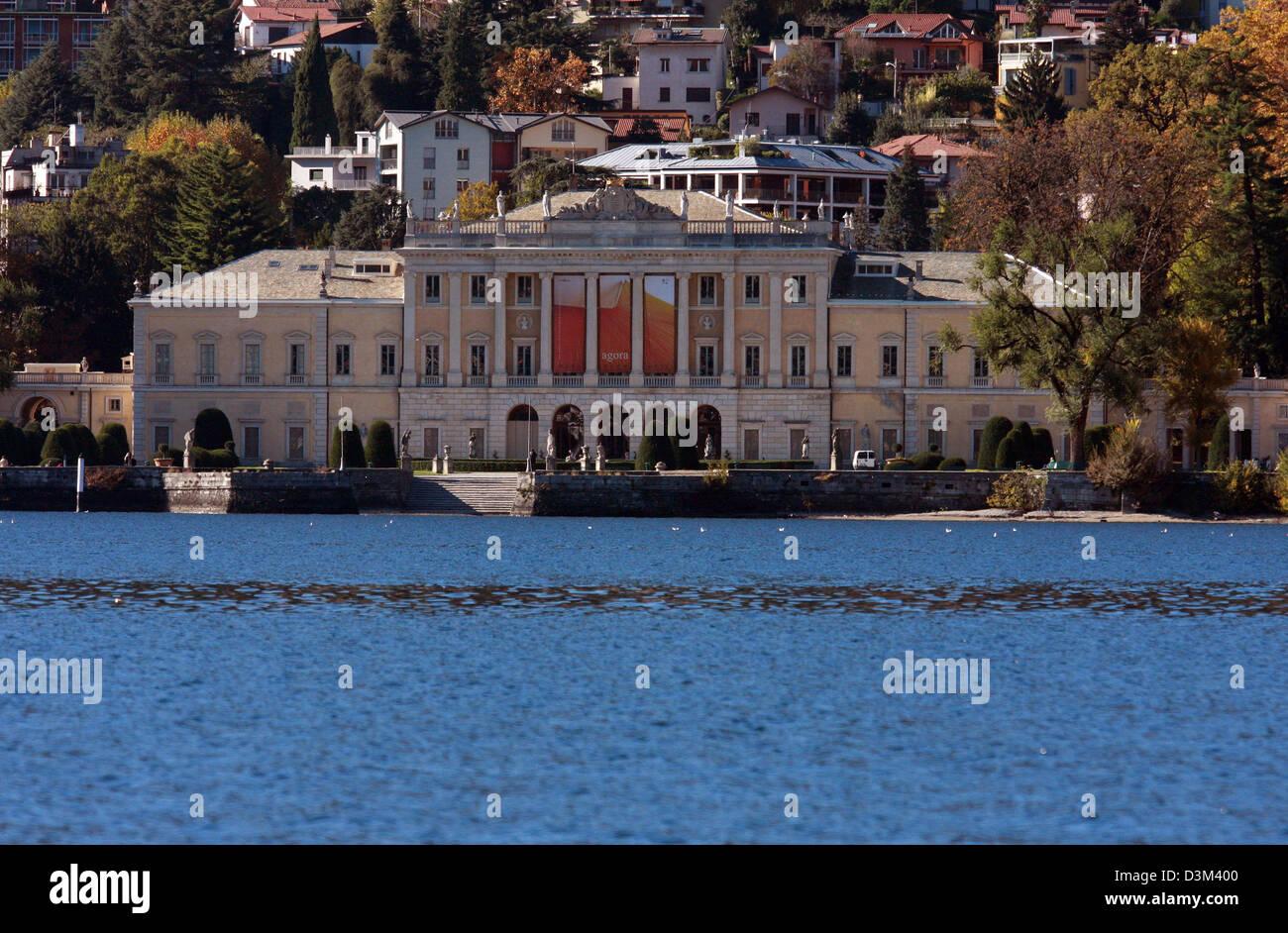 Italy, Lombardy, Lake Como. Villa Aurora Hotel - Stock Image