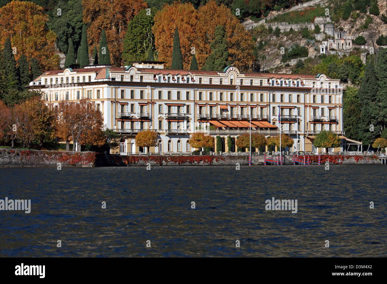 Italy, Lombardy, Lake Como Villa d'Este - Luxury Hotel - Stock Image