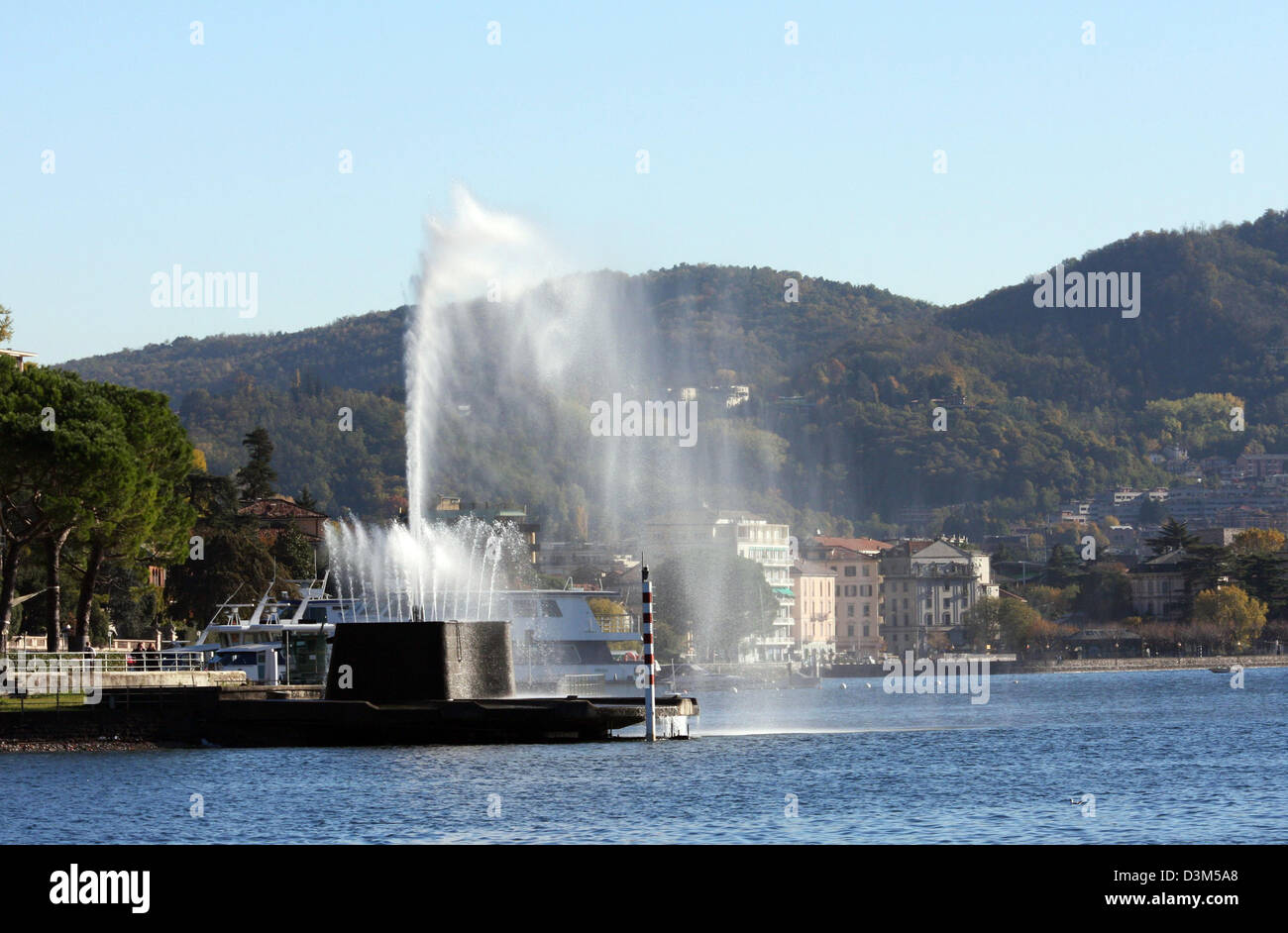 Italy, Lombardy, Lake Como the fountain - Stock Image