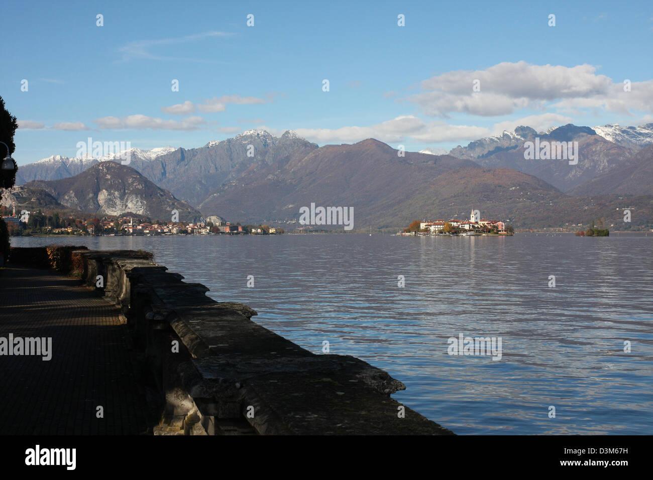 Isola dei Pescatori (lit. Fishermen's Island) Italy, Lake Maggiore - Stock Image