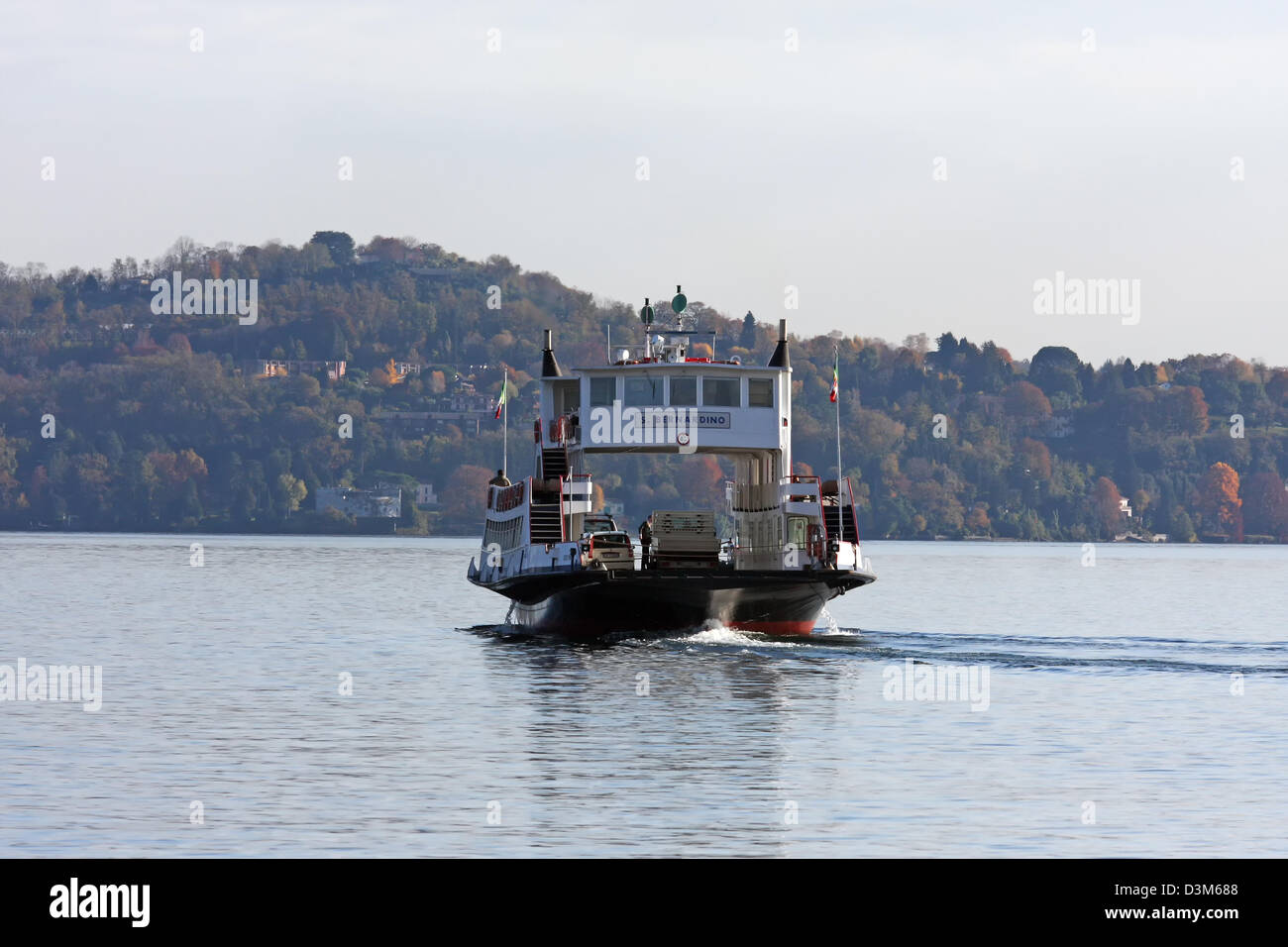 Italy, Lake Maggiore, ferry boat - Stock Image