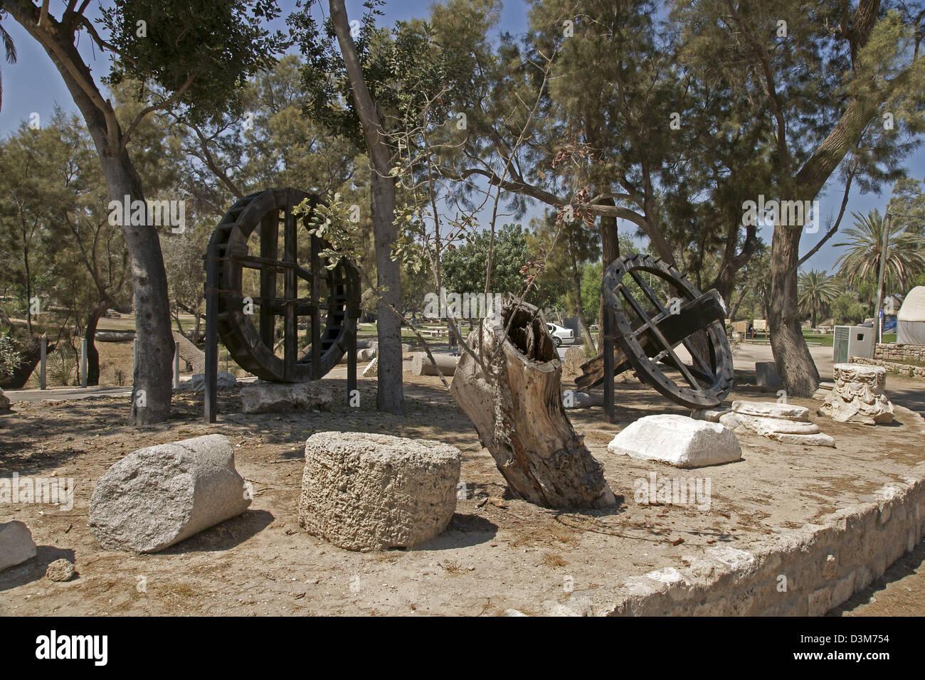 Remain of the Roman Basilica, Ashkelon National park, Israel - Stock Image