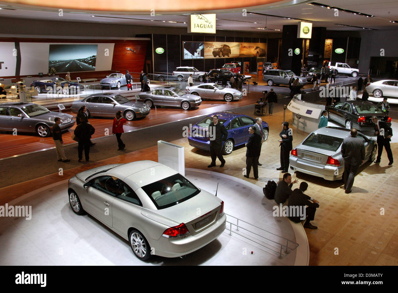 (dpa) - The picture shows Volvo's exhibition stand at the North American International Autoshow (NAIAS) in Detroit, - Stock Image