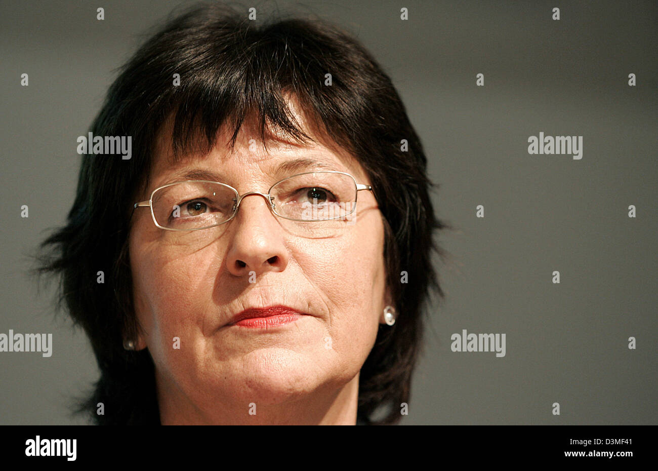 German Federal Health Minister Ulla Schmidt (SPD) answers questions during a press conference in Berlin, Germany, - Stock Image