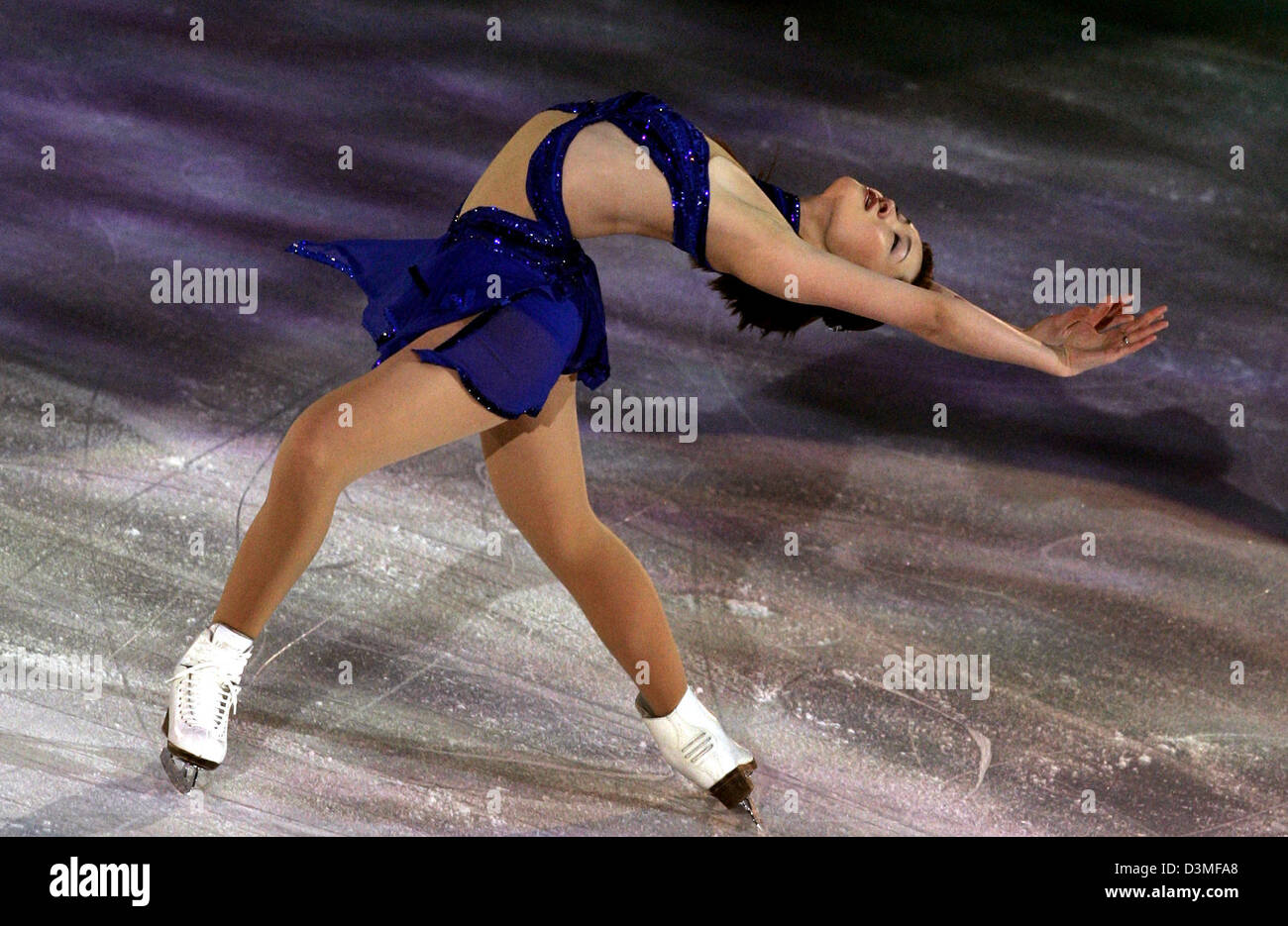 The Japanese Figure Skater Shizuka Arakawa Performs During The Figure Skating Exhibition Gala In The Palavela Hall At The Xx Winter Olympics In Turin