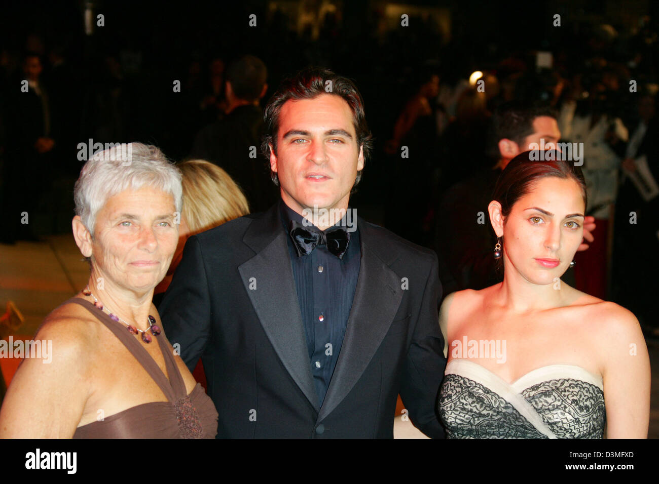 (from L) Arlyn Phoenix, the mother of US actor Joaquin Phoenix and his sister Summer Phoenix at the Vanity Fair - Stock Image