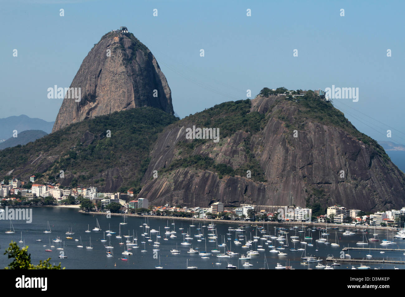 View of Sugar Loaf and Botafogo´s cove in Rio de Janeiro Stock Photo