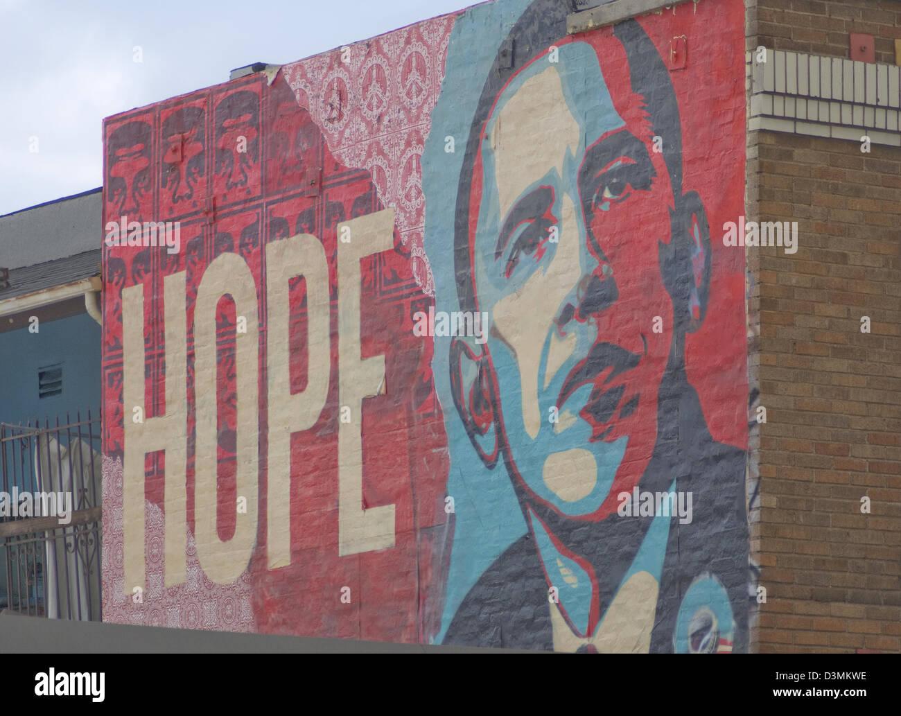 Hope And Change In Libya >> shepard fairey barack obama hope mural on hollywood boulevard in los Stock Photo: 53929722 - Alamy