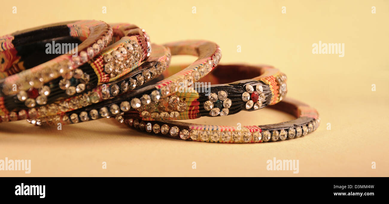 Jewelry Bangles. - Stock Image