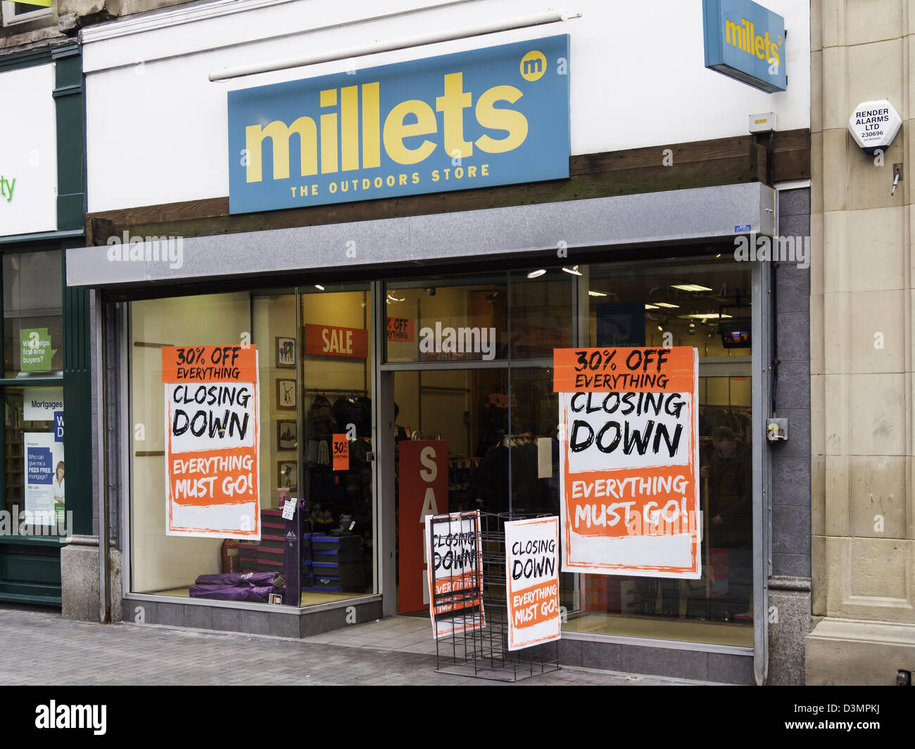 5db155508e Millets Outdoor Clothing store in Middlesbrough closing down sale after  reported financial problems of its parent company