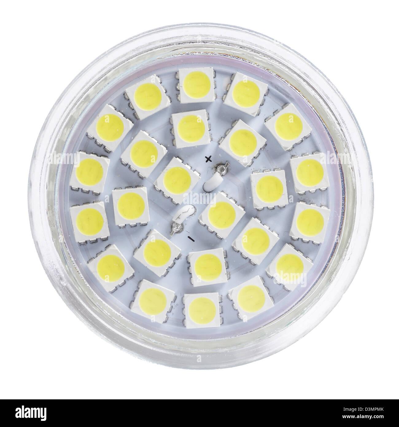 Low energy LED spotlight bulb - Stock Image