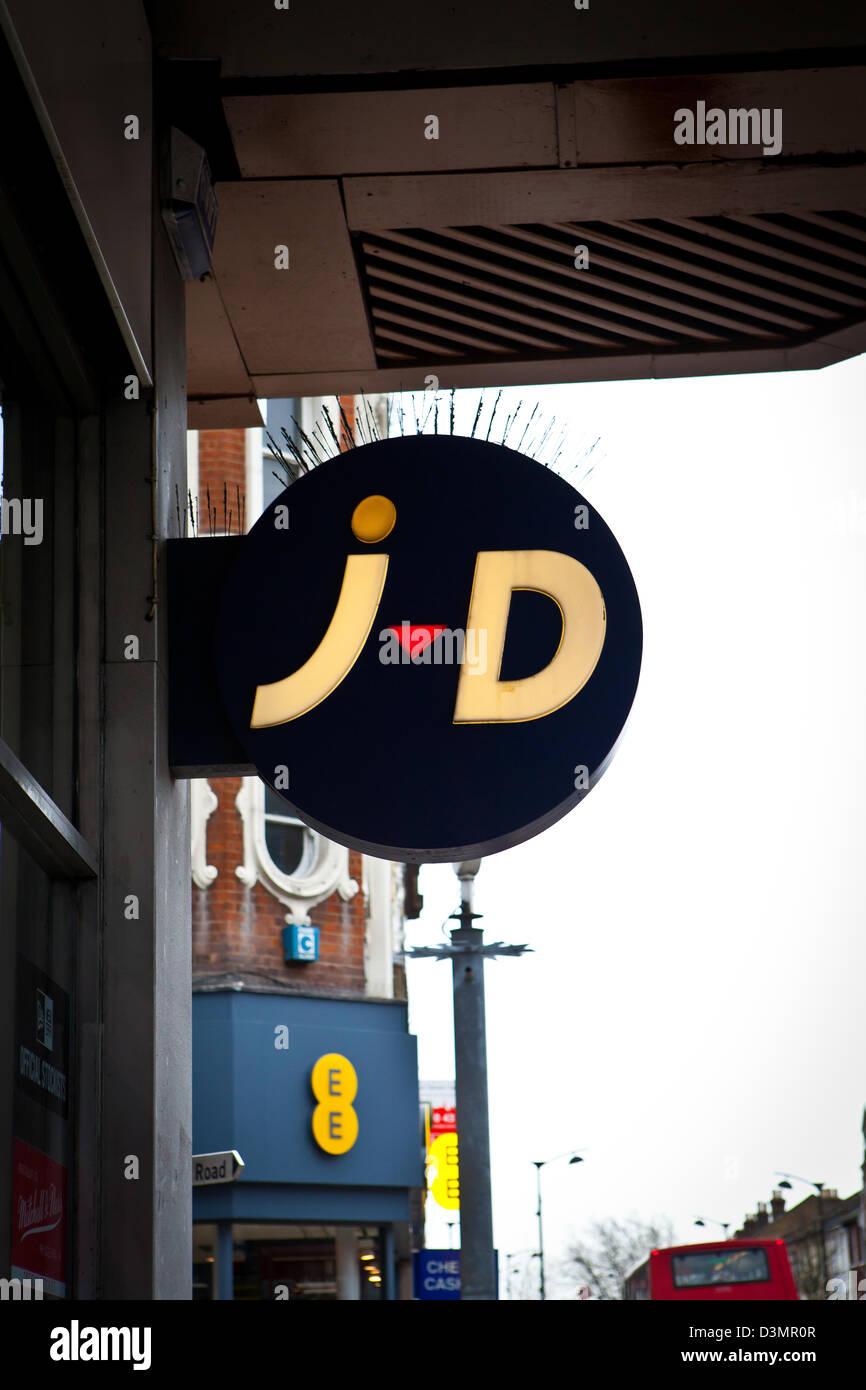 88099fe145765 JD Sports shop sign Stock Photo: 53932167 - Alamy