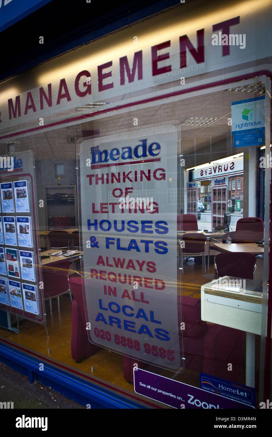 Estate Agents Window - Stock Image