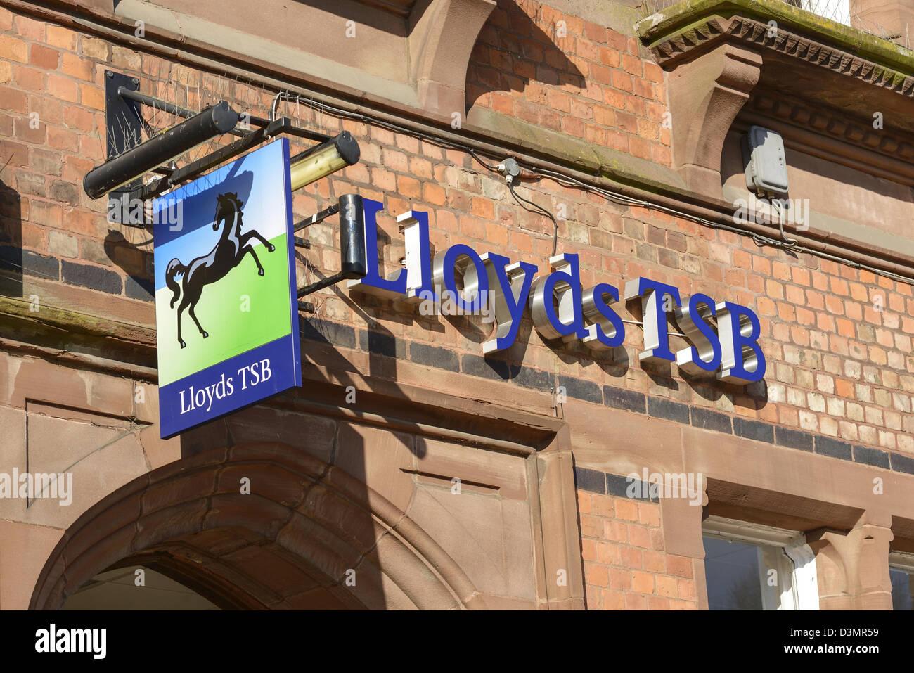Lloyds TSB Bank sign - Stock Image