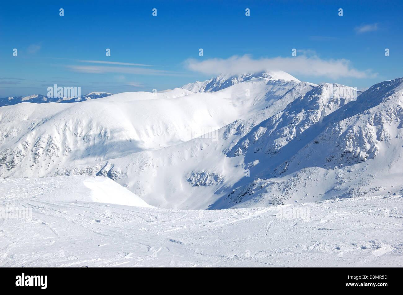 free ride area on chopok in jasna ski resort, low tatras, slovakia