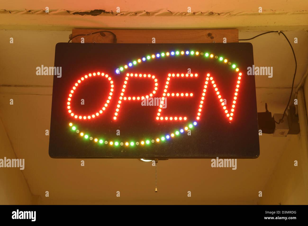 LED Open sign - Stock Image