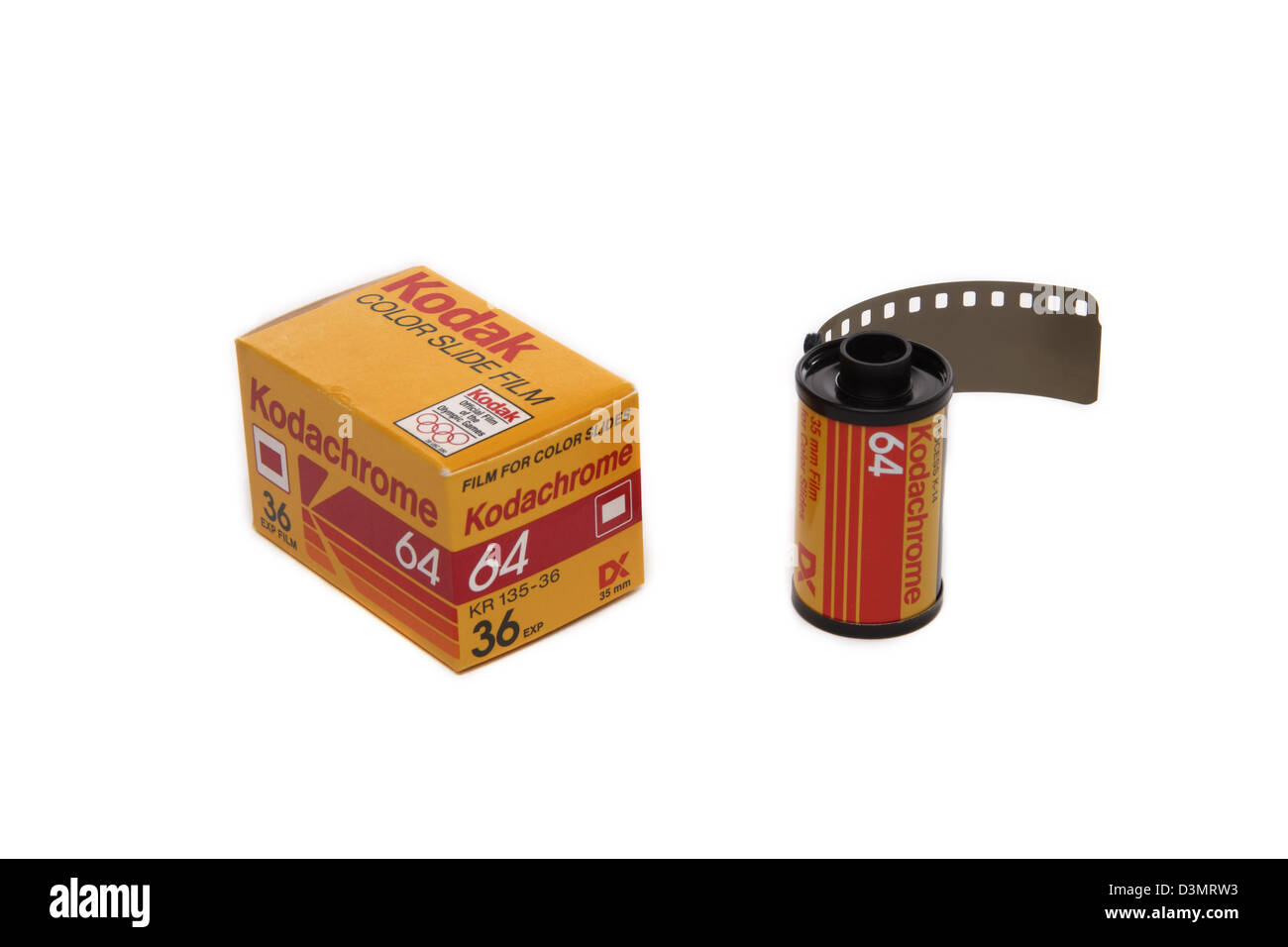 Kodak Kodachrome 64 35 mm slide film - Stock Image
