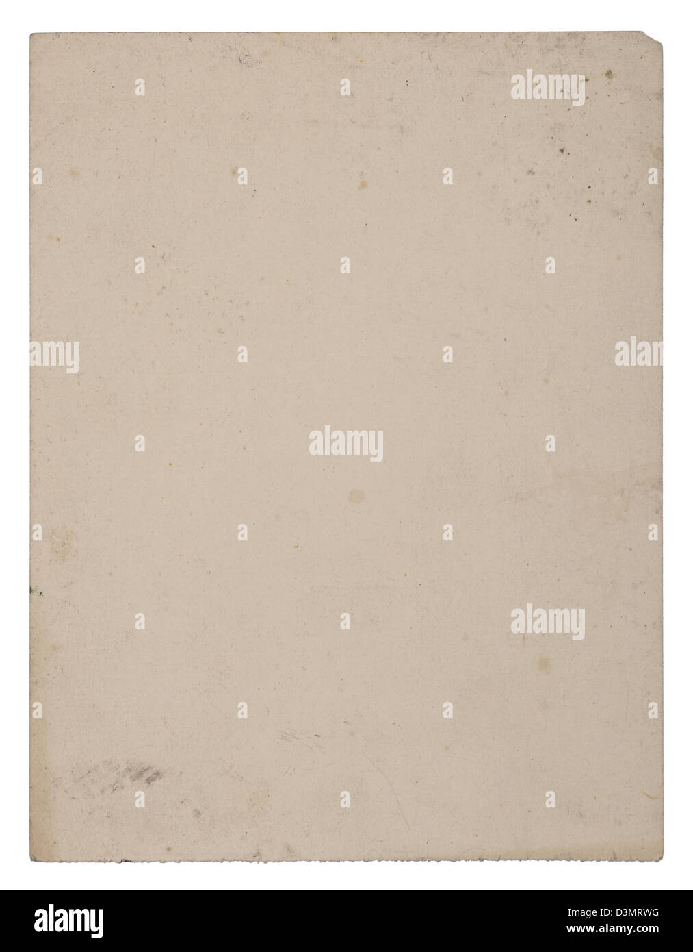 Sheet of old aged paper - Stock Image