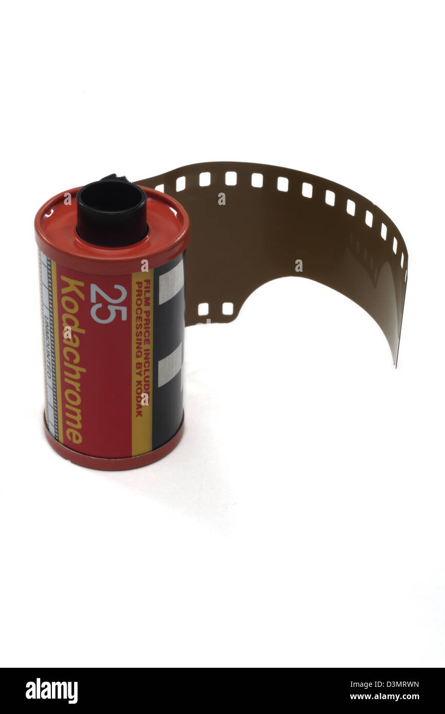 Kodak Kodachrome 25 35 mm slide film - Stock Image