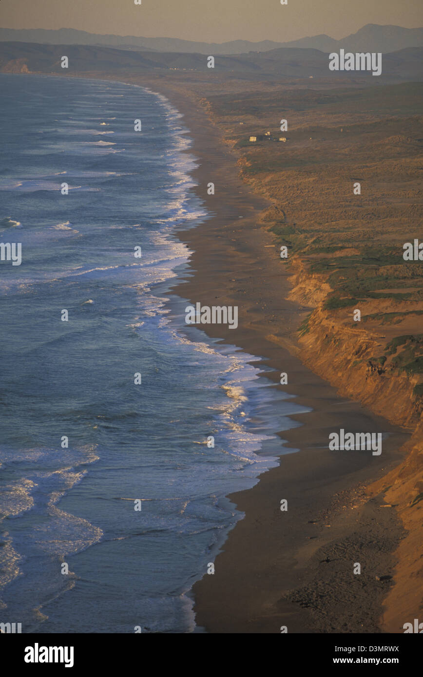 Point Reyes National Seashore peninsula off the Pacific coast in Marin County north of San Francisco California - Stock Image