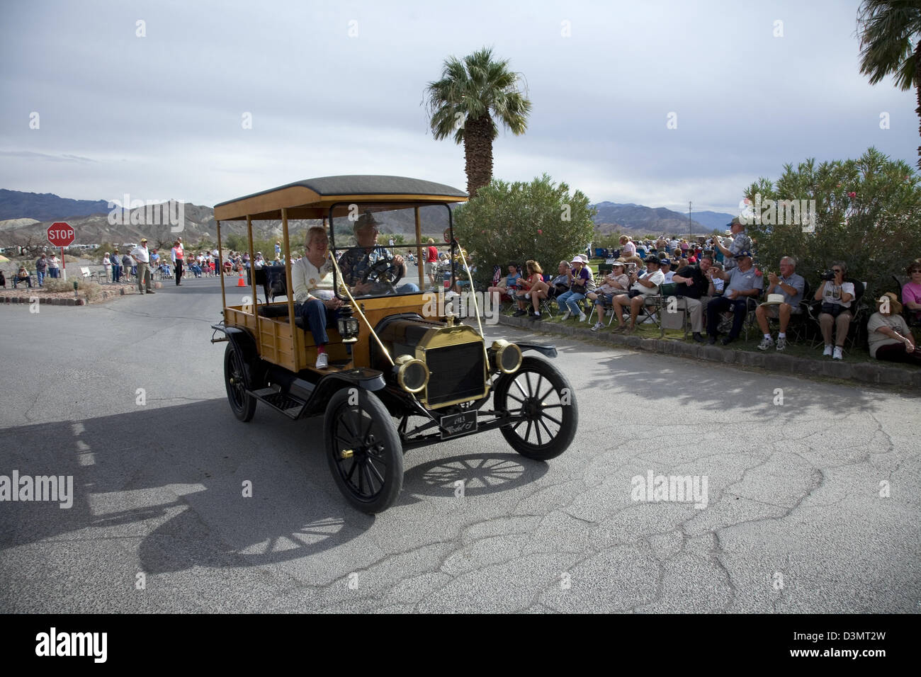 Antique car, Death Valley 49er Encampment, Death Valley National Park, CA, USA - Stock Image